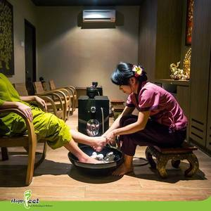 Normal couple foot massage